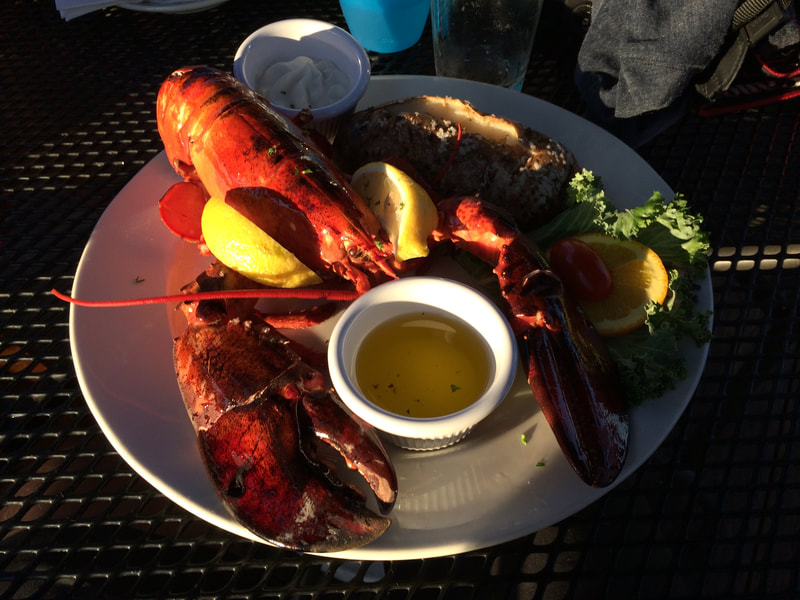 Lobster at the Seafood Shanty in Edgartown.