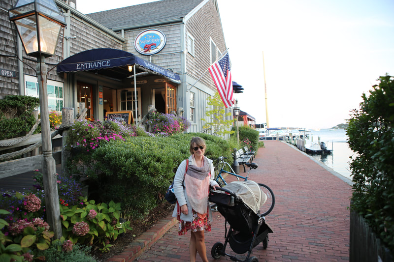 Seafood Shanty in Edgartown with our toddler.