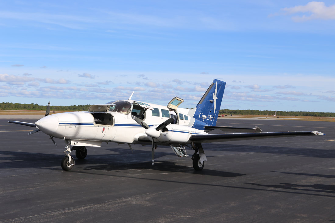 Cape Air Plane at Martha's Vineyard airport